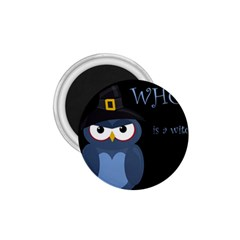 Halloween witch - blue owl 1.75  Magnets