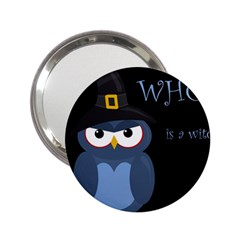 Halloween witch - blue owl 2.25  Handbag Mirrors