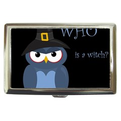 Halloween witch - blue owl Cigarette Money Cases