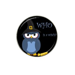 Halloween witch - blue owl Hat Clip Ball Marker