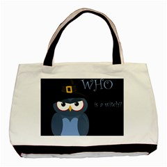Halloween witch - blue owl Basic Tote Bag (Two Sides)