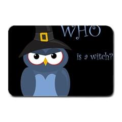 Halloween witch - blue owl Plate Mats