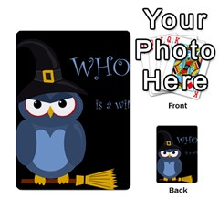 Halloween witch - blue owl Multi-purpose Cards (Rectangle)