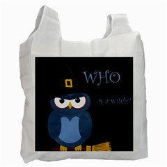 Halloween witch - blue owl Recycle Bag (One Side)