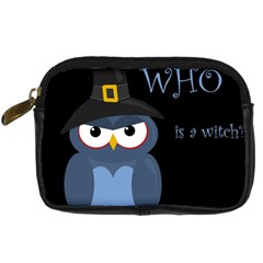 Halloween witch - blue owl Digital Camera Cases