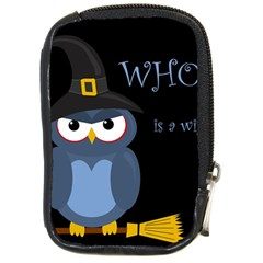 Halloween witch - blue owl Compact Camera Cases
