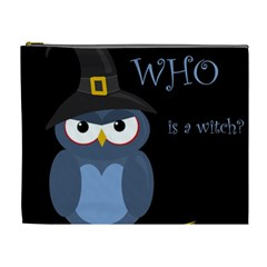 Halloween witch - blue owl Cosmetic Bag (XL)