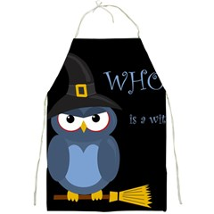 Halloween witch - blue owl Full Print Aprons