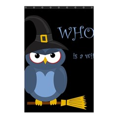 Halloween witch - blue owl Shower Curtain 48  x 72  (Small)