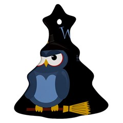 Halloween witch - blue owl Christmas Tree Ornament (2 Sides)