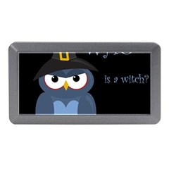 Halloween witch - blue owl Memory Card Reader (Mini)
