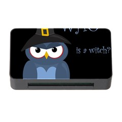 Halloween witch - blue owl Memory Card Reader with CF