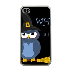 Halloween witch - blue owl Apple iPhone 4 Case (Clear)