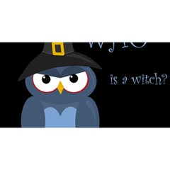 Halloween witch - blue owl YOU ARE INVITED 3D Greeting Card (8x4)