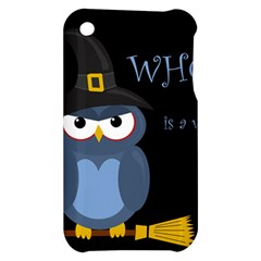 Halloween witch - blue owl Apple iPhone 3G/3GS Hardshell Case