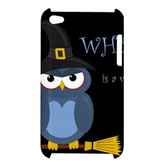 Halloween witch - blue owl Apple iPod Touch 4