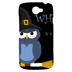 Halloween witch - blue owl HTC One S Hardshell Case