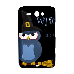 Halloween witch - blue owl HTC ChaCha / HTC Status Hardshell Case