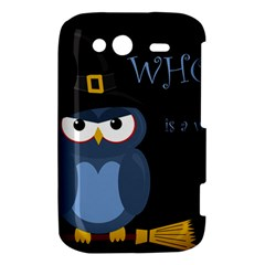 Halloween witch - blue owl HTC Wildfire S A510e Hardshell Case