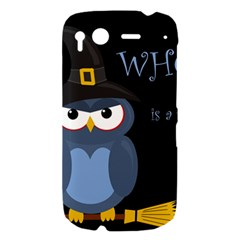 Halloween witch - blue owl HTC Desire S Hardshell Case
