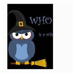 Halloween witch - blue owl Large Garden Flag (Two Sides)