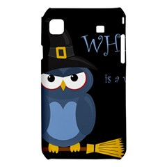 Halloween witch - blue owl Samsung Galaxy S i9008 Hardshell Case