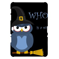 Halloween witch - blue owl Samsung Galaxy Tab 10.1  P7500 Hardshell Case