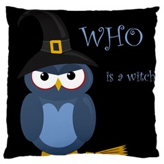 Halloween witch - blue owl Large Cushion Case (One Side)