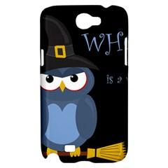 Halloween witch - blue owl Samsung Galaxy Note 2 Hardshell Case