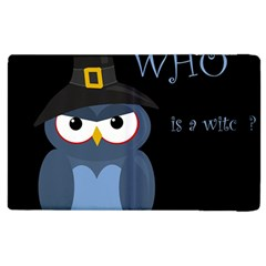 Halloween witch - blue owl Apple iPad 2 Flip Case