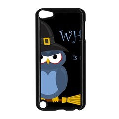 Halloween witch - blue owl Apple iPod Touch 5 Case (Black)