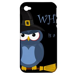 Halloween witch - blue owl Apple iPhone 4/4S Hardshell Case (PC+Silicone)
