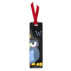 Halloween witch - blue owl Small Book Marks