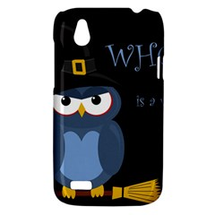 Halloween witch - blue owl HTC Desire V (T328W) Hardshell Case