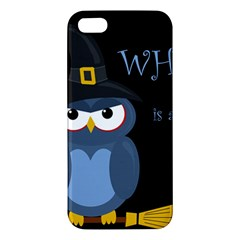 Halloween witch - blue owl Apple iPhone 5 Premium Hardshell Case