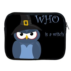 Halloween witch - blue owl Apple iPad 2/3/4 Zipper Cases
