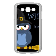 Halloween witch - blue owl Samsung Galaxy Grand DUOS I9082 Case (White)