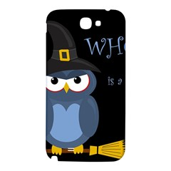 Halloween witch - blue owl Samsung Note 2 N7100 Hardshell Back Case