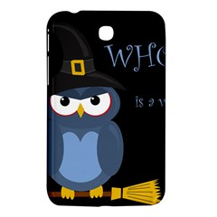Halloween witch - blue owl Samsung Galaxy Tab 3 (7 ) P3200 Hardshell Case