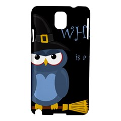 Halloween witch - blue owl Samsung Galaxy Note 3 N9005 Hardshell Case