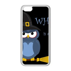 Halloween witch - blue owl Apple iPhone 5C Seamless Case (White)