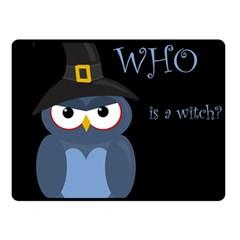 Halloween witch - blue owl Double Sided Fleece Blanket (Small)