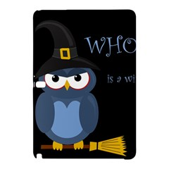 Halloween witch - blue owl Samsung Galaxy Tab Pro 12.2 Hardshell Case
