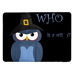 Halloween witch - blue owl Samsung Galaxy Tab Pro 12.2  Flip Case
