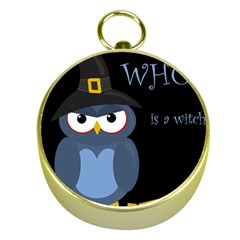 Halloween witch - blue owl Gold Compasses
