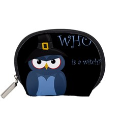Halloween witch - blue owl Accessory Pouches (Small)