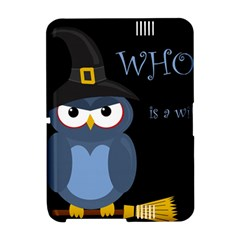 Halloween witch - blue owl Amazon Kindle Fire (2012) Hardshell Case