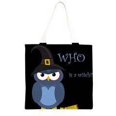 Halloween witch - blue owl Grocery Light Tote Bag