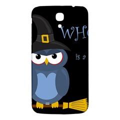 Halloween witch - blue owl Samsung Galaxy Mega I9200 Hardshell Back Case