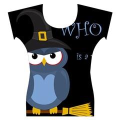 Halloween witch - blue owl Women s Cap Sleeve Top